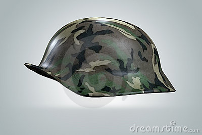 3D helmet army soldier