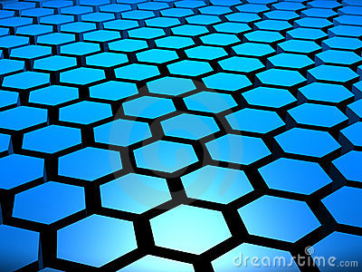 3D Hexagons Background Stock Photography - Image: 15118422