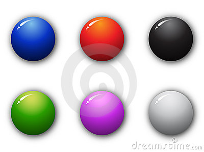 3D high quality sphere button set