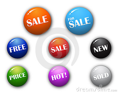 3D high quality sphere sale signs