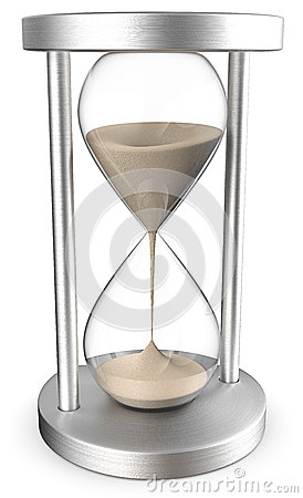 Free 3D Hourglass With Sands Stock Photos - 75214153
