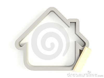 3d House Icon 02