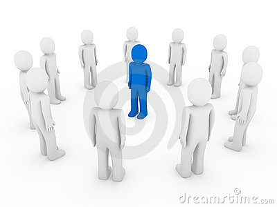 3d human circle blue