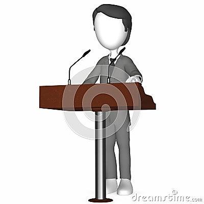 3D Human holding a Speech