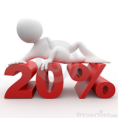 Free 3D Human Lying At 20 Percent Royalty Free Stock Photos - 17794538
