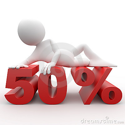 Free 3d Human Lying In 50 Percent Royalty Free Stock Photography - 17679667