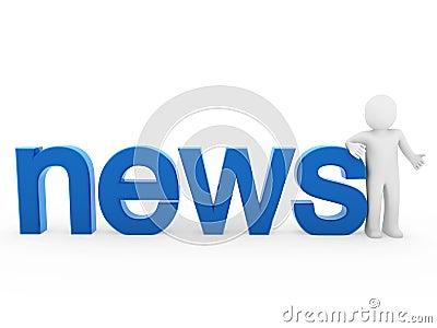 3d human news read blue