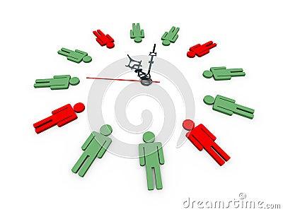 3d human shapes clock