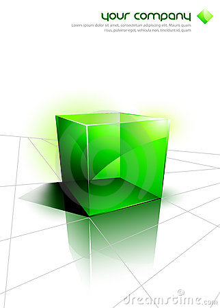 Free 3D Icons - Green Cube Design Stock Image - 10539361