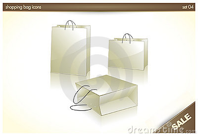 3D icons - Shopping Bag, Gift Bags