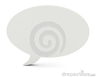 3D Illustration of a blank speech bubble