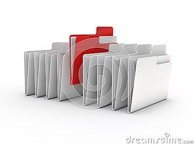 3d illustration of folder icons