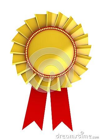3d illustration of golden award
