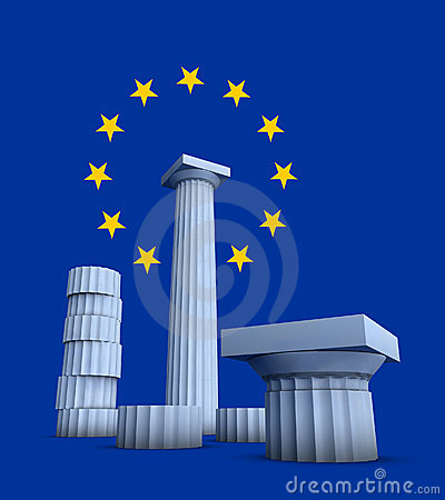 3d illustration on Greece Europe culture