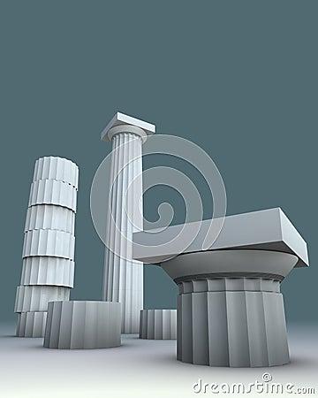 3d illustration on Greece Greek culture
