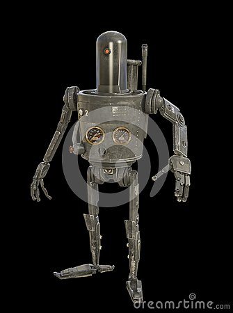 Free : 3D Illustration Of Steam Powered Mechanical Robot Stock Images - 118531454