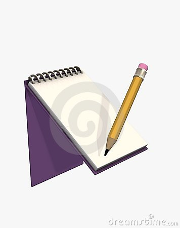 3d illustration pad and pencil
