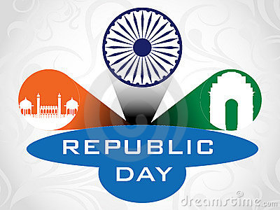 3D  illustration for Republic Day.