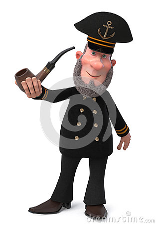 Free 3d Illustration Sea Captain With Smoking Pipe Stock Image - 96863061