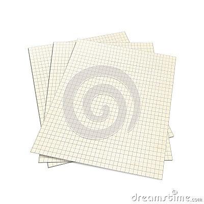 3D Illustration of Squared Notebook,