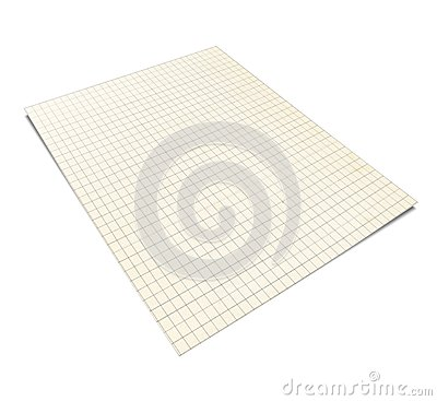 3D Illustration of Squared Notebook,