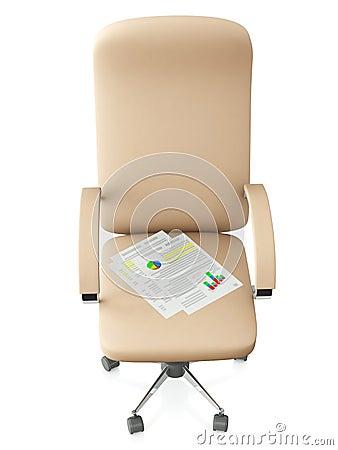 3d illustration: Swivel chair