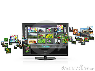 3d an illustration: the TV