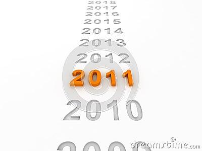 3D Image Of 2011 (Orange)