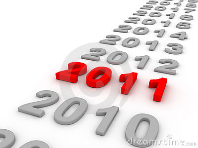 3D Image Of 2011 (Red) Royalty Free Stock Photo - Image: 13541335