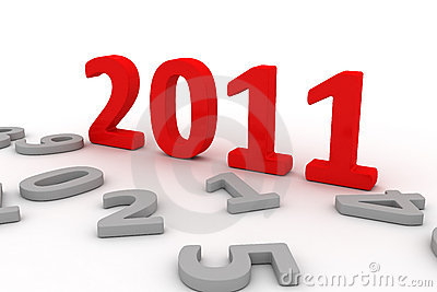 3D Image Of 2011 (Red) Royalty Free Stock Photo - Image: 13565705