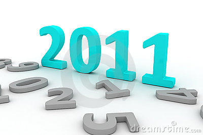 3D Image Of 2011 (turquoise)