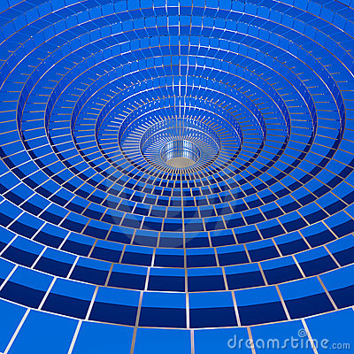 3d image of blue 3d circle wired background