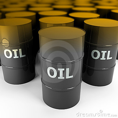 3d image of petrol oil barrel