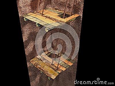 3d image of the underground mine