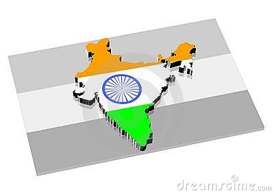 3D India Map