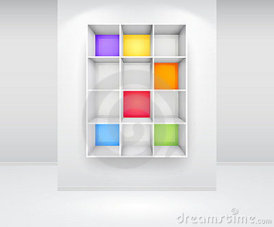 3d isolated Empty colorfu