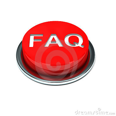 3d isolated faq button