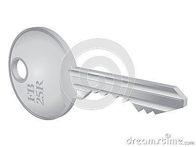 3D isolated metallic key