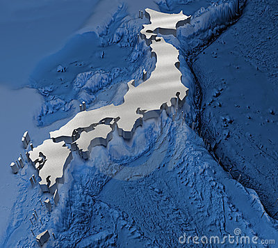 3D japan map