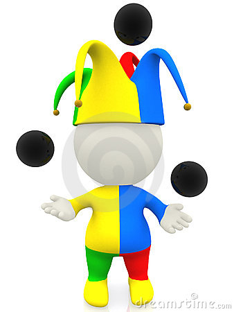 3D jester or clown