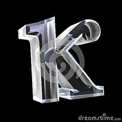 Free 3D Kappa Symbol In Glass Stock Photo - 5476110