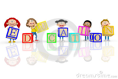 3D kids spelling education