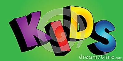 3D kids word