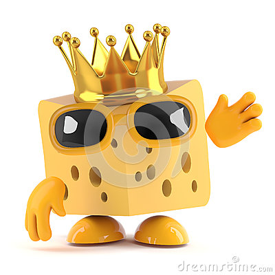 Free 3d King Cheese Royalty Free Stock Photo - 41871695