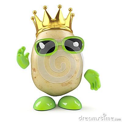 Free 3d King Potato Royalty Free Stock Photos - 38958258