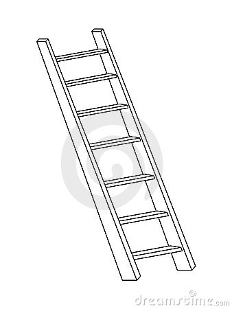 3d Ladder Royalty Free Stock Image Image 14067756