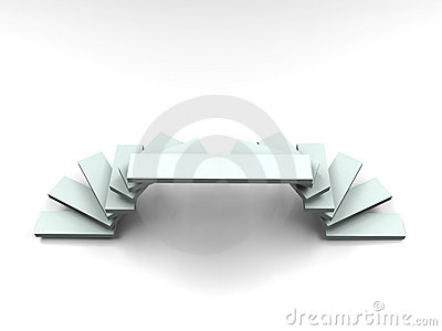 3D Ladder Arc style podium - Front view