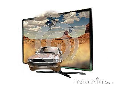 3D Led slim Television