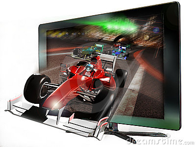 3D led television Editorial Stock Image