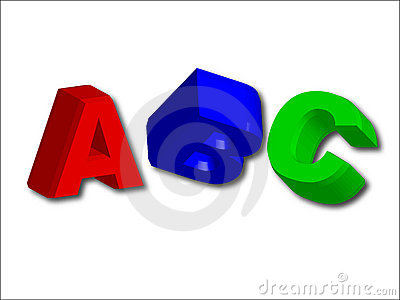 3D letters ABC (easy as abc)